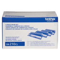 Genuine OEM Brother DR-210 Black Drum Unit Set (15000 page yield)