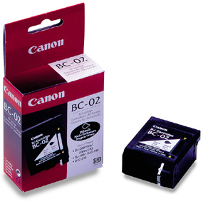 Genuine OEM Canon 0881A003 (BC-02) Black Inkjet Cartridge
